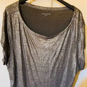 Eileen Fisher short sleeved Knit top